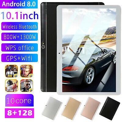 10.1 inch HD Tablet PC Android 8.0 Bluetooth 8+128G 10 Core Dual SIM w/GPS+Wifi
