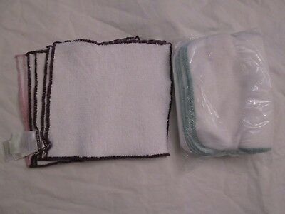 Lot 12 Reusable Cloth Baby Wipes Bumboo Cotton Viscose Bamboo Fleece Unused