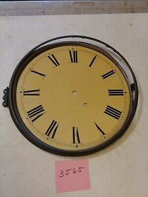 Antique Seth Thomas Era School House Regulator Wall Clock Dial & Bezel No Glass