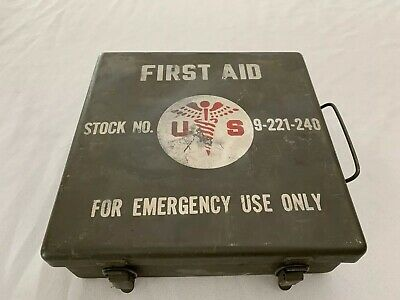 Ww2 Jeep First Aid Kit With Original Contents Used With Some Original Contents