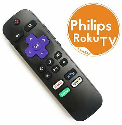 Replacement Remote FIT for Philips ROKU TV w/ Volume Control & TV Power Button