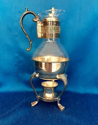 BEAUTIFUL! Vintage FB Rogers Silver Plate 1883 Tea Coffee Warmer Carafe Set