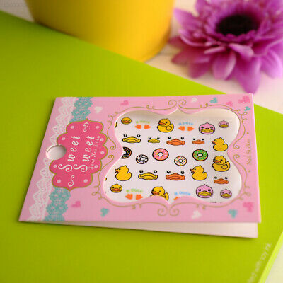 Fashion Cute Pro 3D Cartoon Duck Decal Stickers Nail Art Manicure Tips Decor