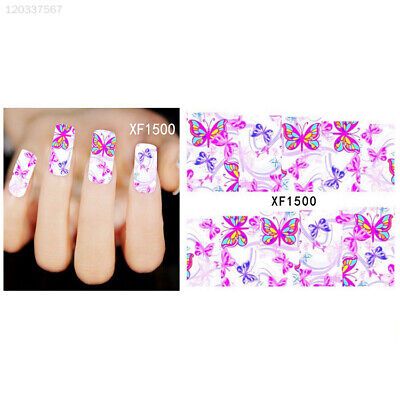 New Fashion Pro Water Transfer Butterfly Stickers Nail Art Manicure Tips DIY