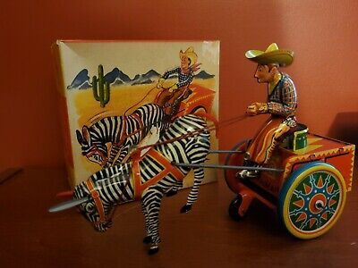 ANTIQUE LEHMANN GALOP IN ORIGINAL BOX Nr 852 Wind Up Tin Litho Toy West Germany
