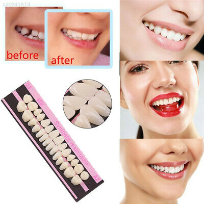 Makeup Acrylic Resin 28 Teeth/Set Resin Denture Veneers Dentalcare Dentistry