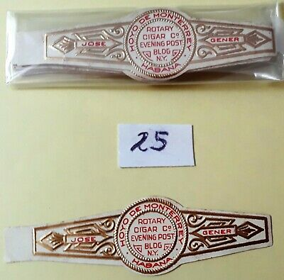X 25 Lot P - Partagas 04 Antique Collectible 1920s 1950s  Cigar Band