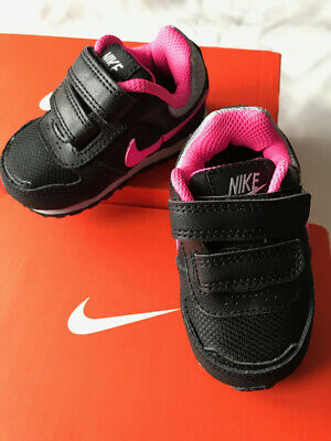 Nike Toddler Baby Kids Infant Girl Trainer Shoes Sneakers UK 2.5 Black Pink Grey