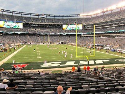 2 Cleveland Browns vs New York Jets MNF Tickets 9/16 9th Row LOWERS 103 MetLIfe