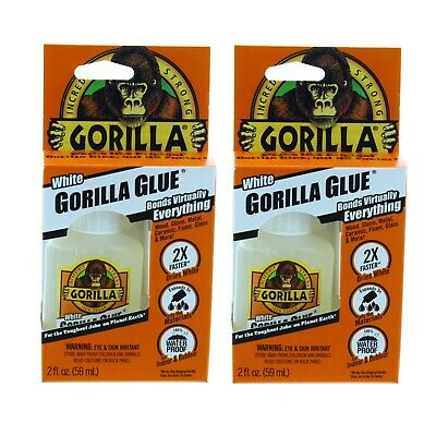 Gorilla Glue Fast Cure Bonding Waterproof Indoor Outdoor Adhesive, 2 oz.