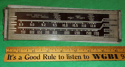 Philco 1942 Radio Glass Dial (Beam of Light Models & Others) 2 3/8 X 8 5/8 Inch