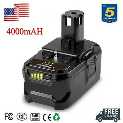18V 4.0Ah P104 For Ryobi P108 One Plus Lithium High Capacity Battery P105 P301