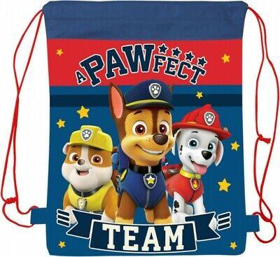 Paw Patrol  DRAWSTRING LIBRARY SCHOOL SWIMMING KINDER BOOK BAG BIRTHDAY