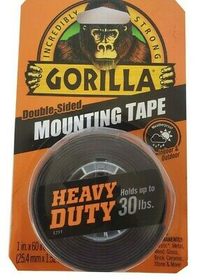 Gorilla Double Sided Mounting Tape Heavy Duty Indoor Outdoor Weatherproof