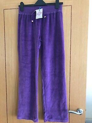 Girls Joggers From John Lewis Age 12 Years - BRAND NEW Purple Velour
