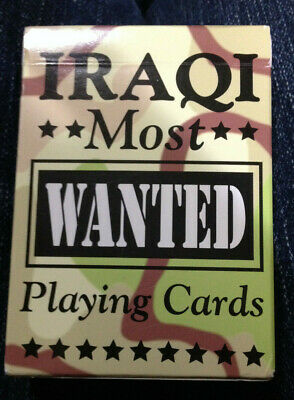 Iraqi Most Wanted playing cards   complete deck