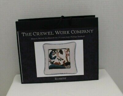 """The Crewel Work Company """"Rabbits"""" Crewel Embroidery Kit for Beginner"""