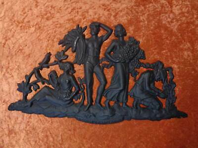 "Lauchhammer Cast Iron Relief Wall Picture "" Four Seasons "" - Vintage"