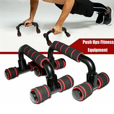 UK 1 Pair Push-up Stand Foam Handles Chest Press Pull Exercise Gym Home Fitness