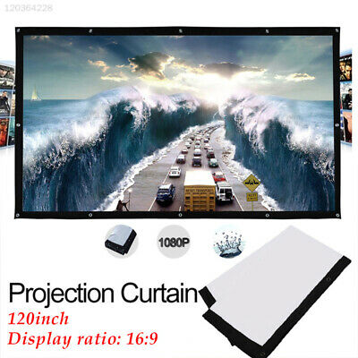 E598 16:9 Movie Screen Folded Projection Screen Gaming School Outdoor