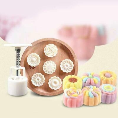 6Styles Stamps Round Letter Moon Cake Mold Mould White Mooncake C5Y9 Set De Q3L4