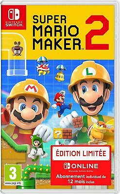 SWITCH Super Mario Maker 2 Édition limite 12 Mois Abonnement