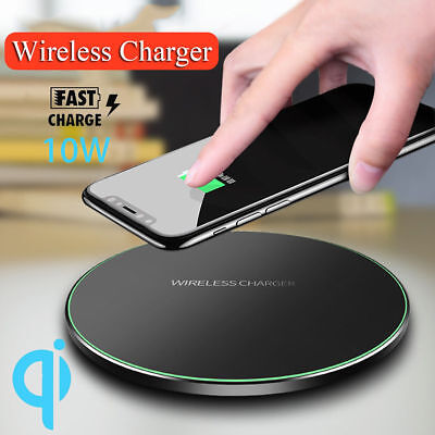 Qi Wireless Charger Fast Charging Pad For iPhone X 8 Plus XS Max Samsung S9 S10
