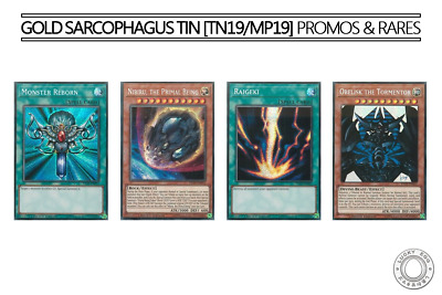 Yu-Gi-Oh! Gold Sarcophagus Tin [TN19/MP19] Prismatic Secret Rare Promos & Rares