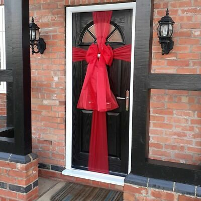 Christmas Door Bow With Lights