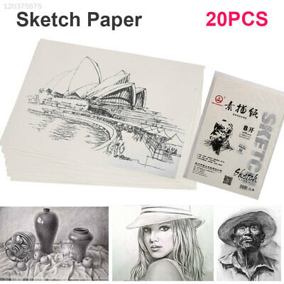 Durable 20pcs/Bags Drawing Paper Sketch Paper Art Supplies Lettering Stationery