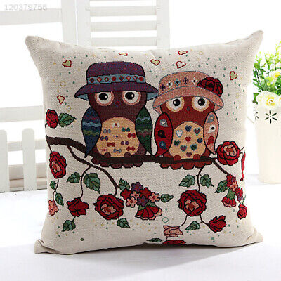 Hot Two Owls With Hats Throw Pillow Cushion Case Cover Office Sofa Decor Gift