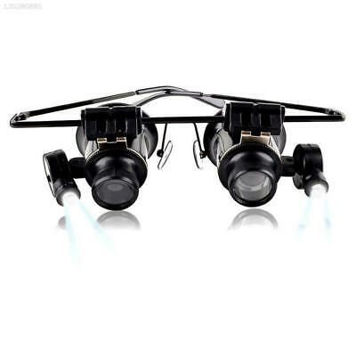 20x Magnifying Eye Magnifier Glasses Loupe Jeweler Watch LED Light Rotatable