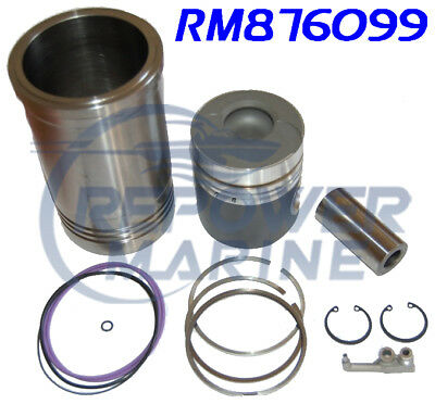 Cylindre Doublure & Kit Piston pour Volvo Penta 31A & 41A, Remplacement: 876099