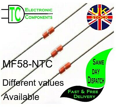 MF58-NTC Thermistors Different values available (10 Pack) **UK SELLER** FREE P&P