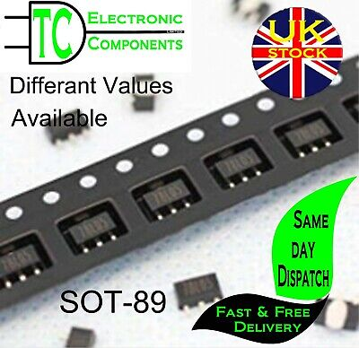 SOT-89 Voltage Regulators Positive and Negative types available (5 Pack)
