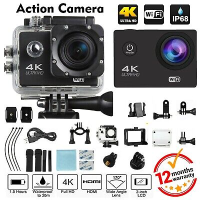 Action Camera 4K Ultra FULL HD 1080P Video Recorder Sports Cam WIFI DV Camcorder