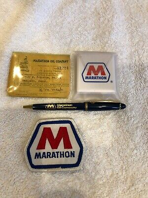 Marathon Oil Company Pen Patch Sewing Kit and Vintage ID Card