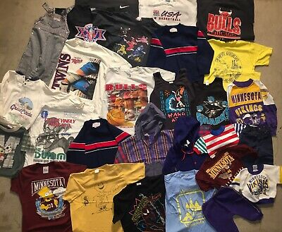 Wholesale Childrens Clothing Lot Boys Toddler Youth Sports Cartoon 80's 90's