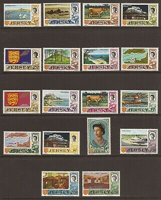 JERSEY 1970 SG42/56 Decimal Currency Full Set of 18 MNH (JB7767)