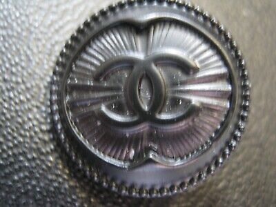 CHANEL  1 AUTHENTIC BLACK METAL  cc 18 MM BUTTON THIS IS FOR ONE