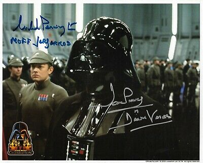Star Wars Official Pix Michael Pennington and Dave Prowse Signed Celebration 3