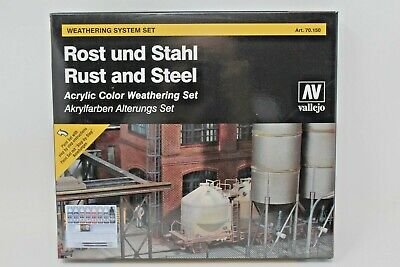 Vallejo Rust And Steel Acrylic Color Weathering Set (9PC/SET) VAL70150