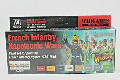 Vallejo French Infantry Napoleonic Wars Paint Set VAL70164 New