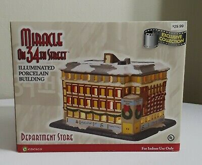 Sale Enesco Miracle On 34Th Street Department Store Christmas House Exclusive