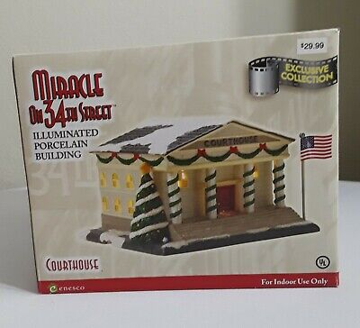 Sale New Enesco Miracle On 34Th Street Courthouse Christmas House Exclusive