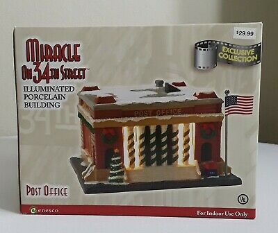 Sale New Enesco Miracle On 34Th Street Post office Christmas House Exclusive