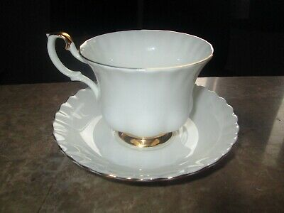 Royal Albert Val'Dor Cup Saucer multiple available appears unused ca 1962