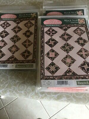 12 Quilter's Sampler Club Monthly Block Party Hancocks Fabrics Block the Month