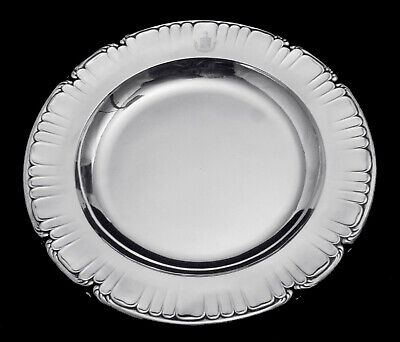 Odiot - Two Stunning 950 Sterling Silver Louis Xvi Presentation Plates 1850-1899