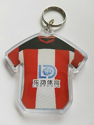 Southampton FC styled personalised keyring with all badges